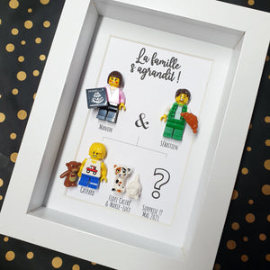 Announce your pregnancy in an original way with a custom Lego frame in your image, Lego ultrasound accessory