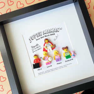 Personalized Lego painting an original gift for Mother's Day or Father's Day