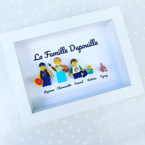 Lego frame portrait family geek original atypical gift mother's day Christmas table Lego
