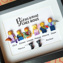 Upload the image to the gallery, Portrait of large families in Lego customizable online