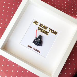 Lego Darth Vader Father's Day frame personalized portrait custom layout Star Wars original gift atypical geek buzz