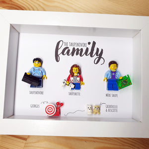 The representation of your family in Lego with The Portraits of Felie: highlight the passions of each: geek, gamer, reading, snail animals
