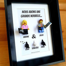 Upload image to gallery, Portrait frame family friends children baby how to announce pregnancy pregnant couple birth ultrasound accessory Lego baby toddler infant family gets bigger announcement pets bricks Lego minifigures custom custom minifigure grandparents sister brother pacs family tree art couple cat cat decoration baby Portraits of Felie