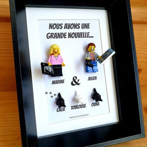 Portrait frame family friends children baby how to announce pregnancy pregnant couple birth ultrasound accessory Lego baby toddler infant family gets bigger announcement s pets bricks Lego minifigures custom custom minifigure grandparents sister brother pacs family tree art couple cat cat decoration baby Portraits of Felie