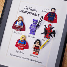Upload the image to the gallery, A custom Lego superhero portrait for a corporate gift!