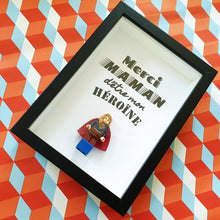 Upload image to gallery, Lego Frame SuperWoman Mother's Day geek Felie's Portraits -