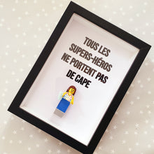 Upload Image to Gallery, Mothers Day Lego Frame All Superheroes Not Wearing Custom Made Felie Portraits Geek Cape