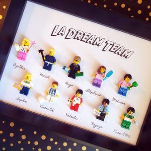 Personalized Lego Portrait frame retirement departure pot corporate gift atypical gift customizable gift sport club company company custom portrait character birth_baby house Lego atypical idea common kitty personalized frame atypical bricks