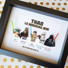 Upload the image to the gallery, An original gift for a child fan of Star Wars customizable frame in Lego