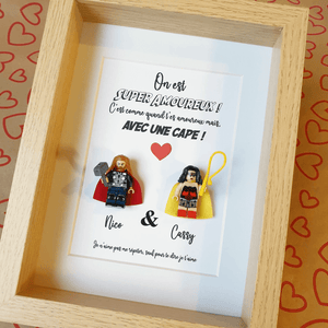 A portrait of a couple made to measure for Valentine's Day, an original gift to declare your love!