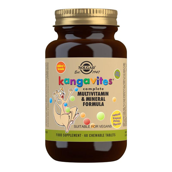 Solgar Kangavites Tropical Punch Complete Multivitamin and Mineral Formula Chewable Tablets