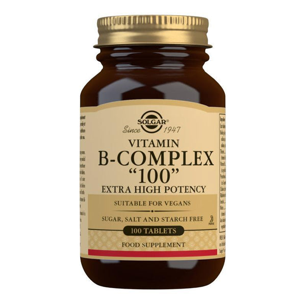Vitamin B-Complex ''100'' Extra High Potency Tablets - Pack of 100-Vitamins-Solgar