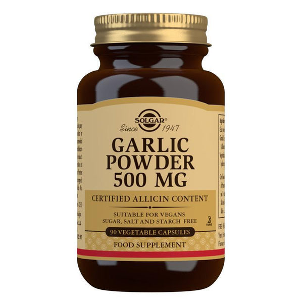 Garlic Powder 500 mg Vegetable Capsules - Pack of 90 (4743838105659)