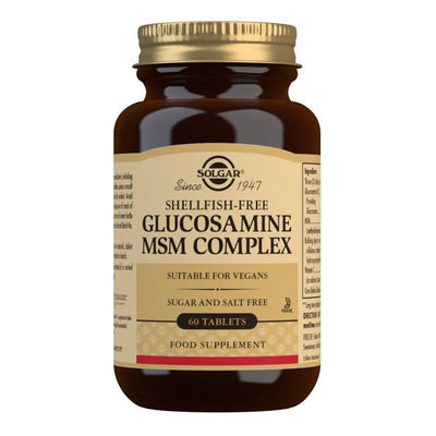 Solgar Glucosamine MSM Complex Tablets - Pack of 60 (4743838695483)