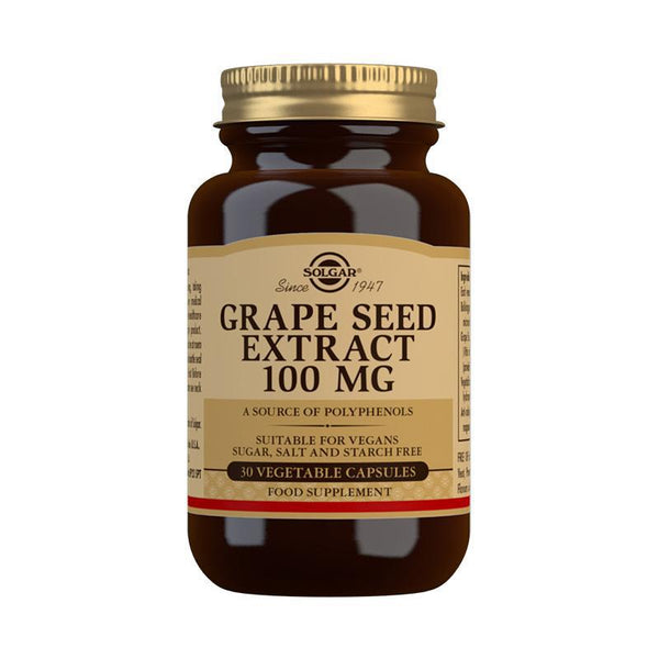 Grape Seed Extract 100 mg Vegetable Capsules - Pack of 30 (4743838859323)