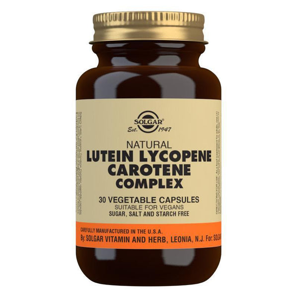 Solgar Lutein Lycopene Carotene Complex Vegetable Capsules - Pack of 30 (4743840006203)