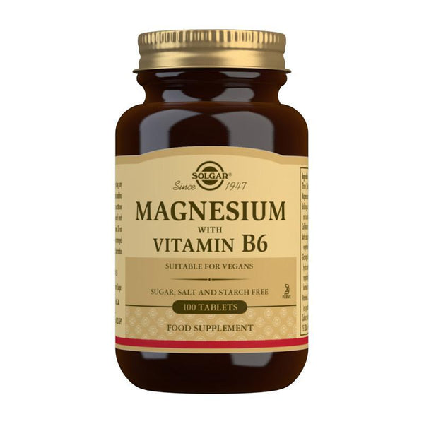 Magnesium with Vitamin B6 Tablets - Pack of 100