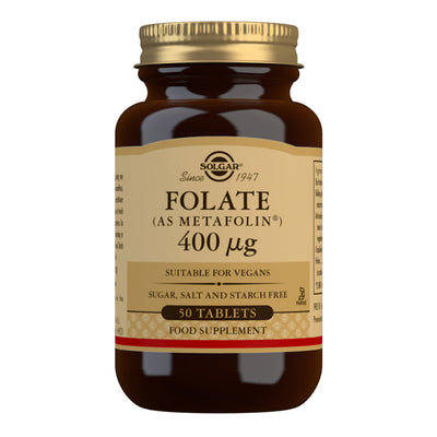 Folate (as Metafolin) 400 mcg Tablets (4891621949499)
