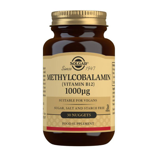 Solgar Methylcobalamin (Vitamin B12) 1000 mcg Nuggets - Pack of 30 (4743841513531)