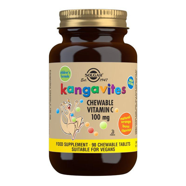 Kangavites Natural Orange Burst Vitamin C 100 mg Chewable Tablets - Pack of 90 (4743844298811)