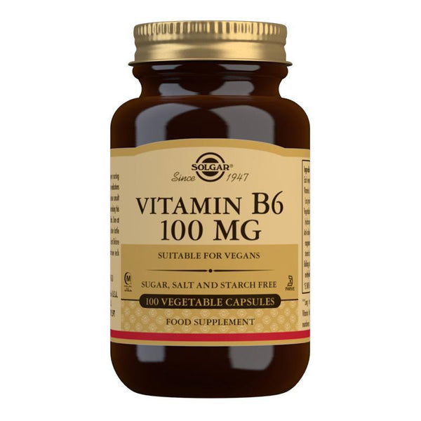 Vitamin B6 100 mg Vegetable Capsules - Pack of 100