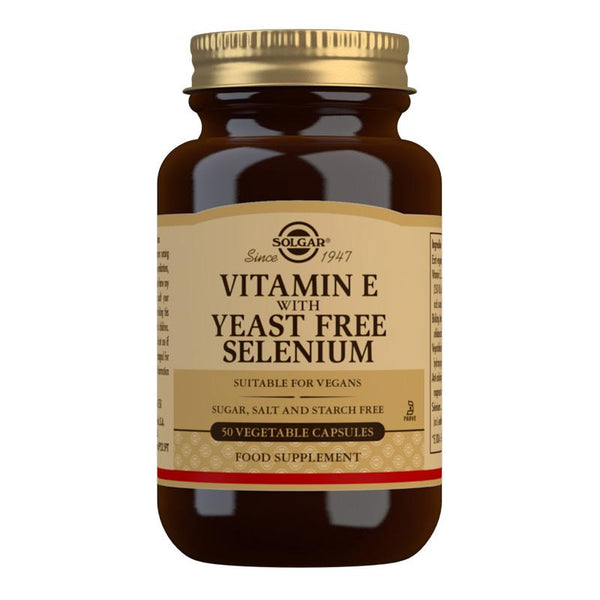 Vitamin E with Yeast Free Selenium Vegetable Capsules (4756439957563)