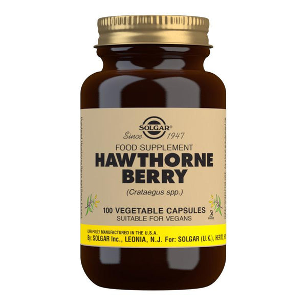 Solgar Hawthorne Berry Vegetable Capsules - Pack of 100