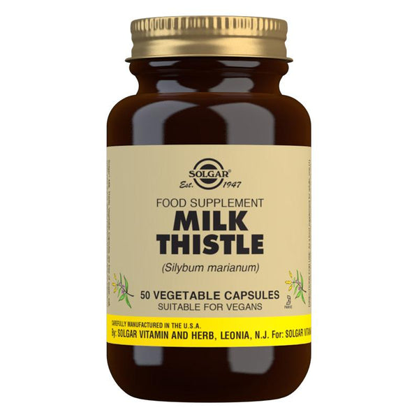Solgar Milk Thistle Vegetable Capsules (4756438351931)