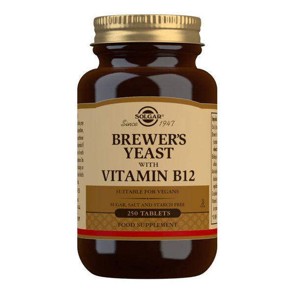 Solgar Brewer's Yeast with Vitamin B12 Tablets - Pack of 250 (4743848951867)