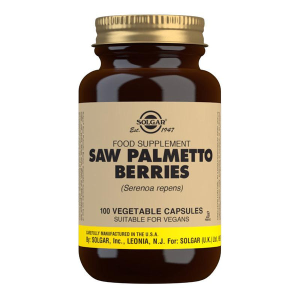 Saw Palmetto Berries Vegetable Capsules - Pack of 100 (4743848984635)