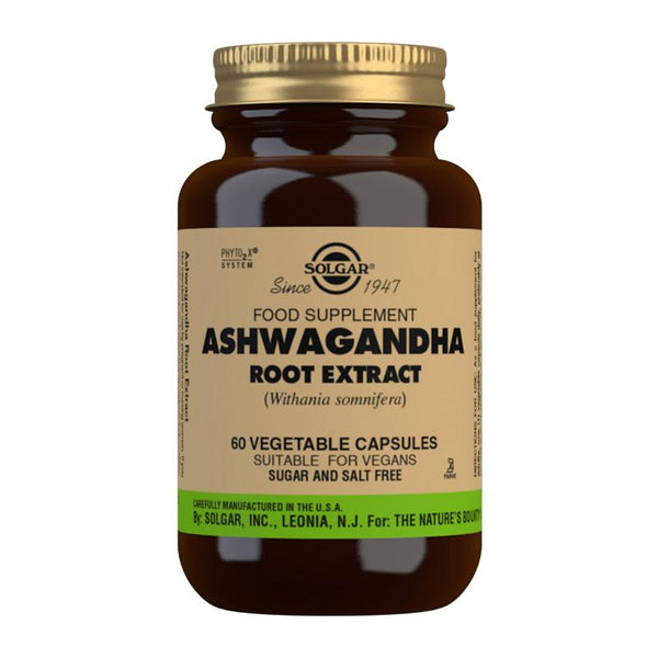 Solgar Ashwagandha Root Extract Vegetable Capsules - Pack of 60 (4743849214011)