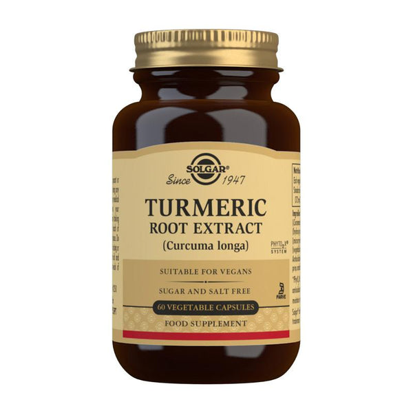 Turmeric Root Extract Vegetable Capsules - Pack of 60 (4743850262587)