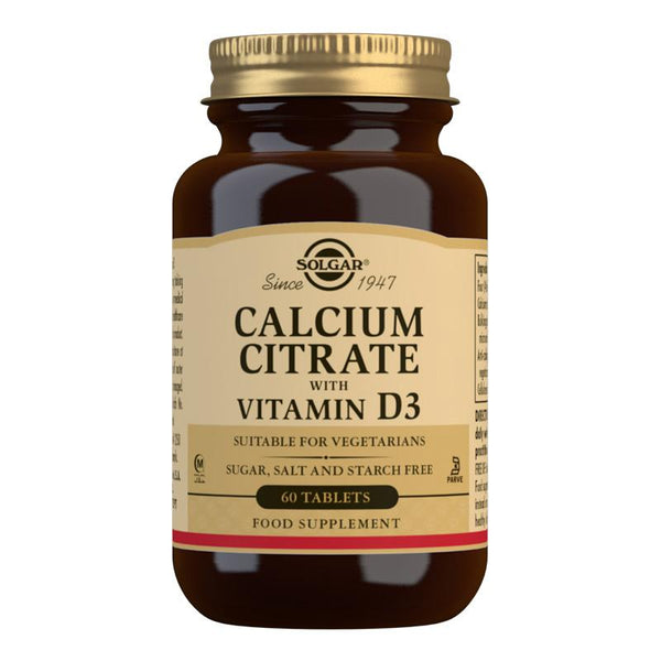 Solgar Calcium Citrate with Vitamin D3 Tablets (4756436680763)
