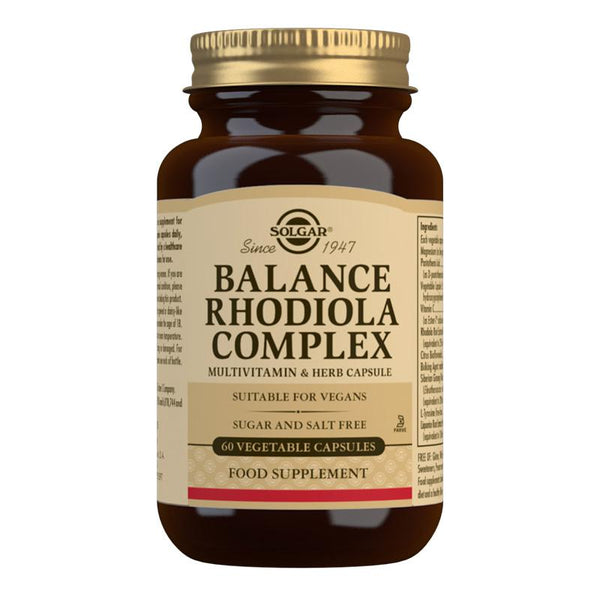 Balance Rhodiola Complex Vegetable Capsules - Pack of 60 (4743850950715)