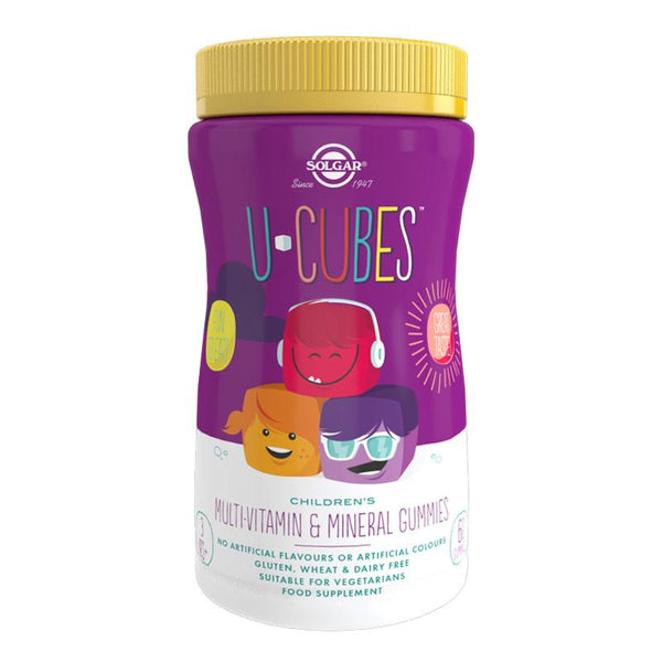 U-Cubes Children's Multi-Vitamin and Mineral Gummies