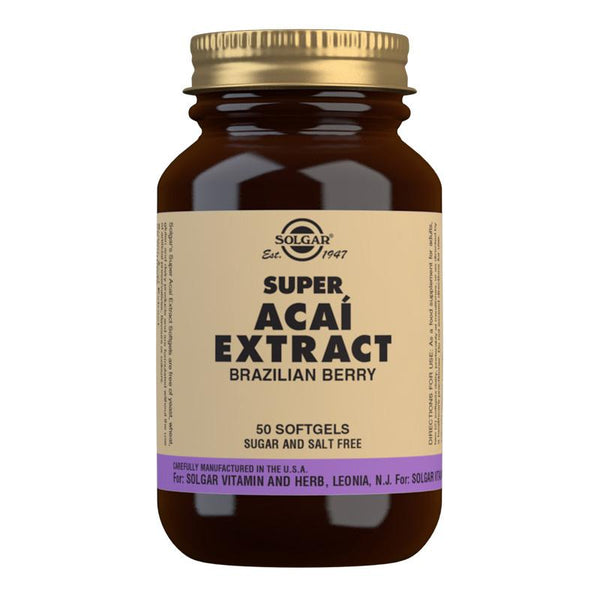 Solgar Super Acai Extract Softgels - Pack of 50