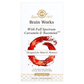 Brain Works with Full Spectrum Curcumin & BacoMind Capsules - Pack of 60