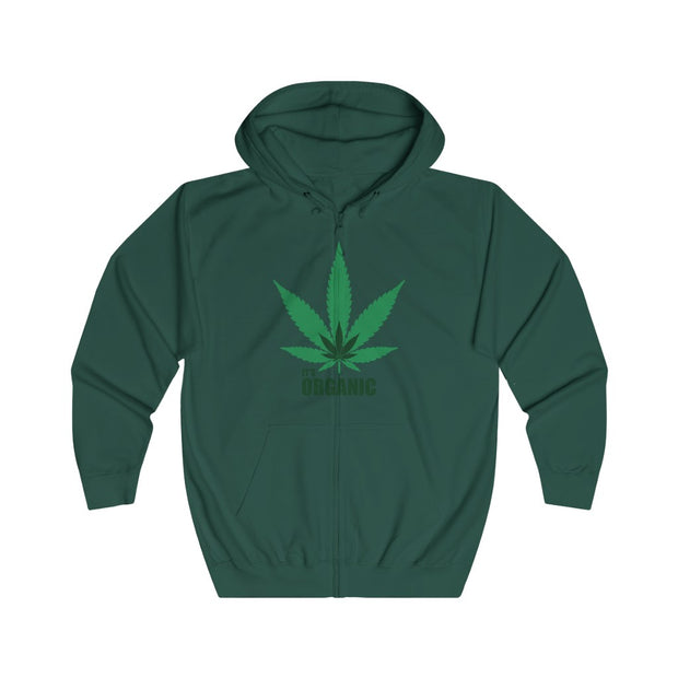It's Organic Unisex Full Zip Hoodie - Cannafitshop