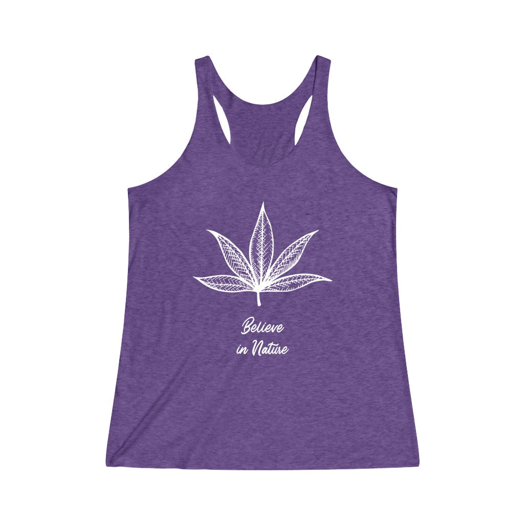 Nature Women's Tri-Blend Racerback Tank - Cannafitshop