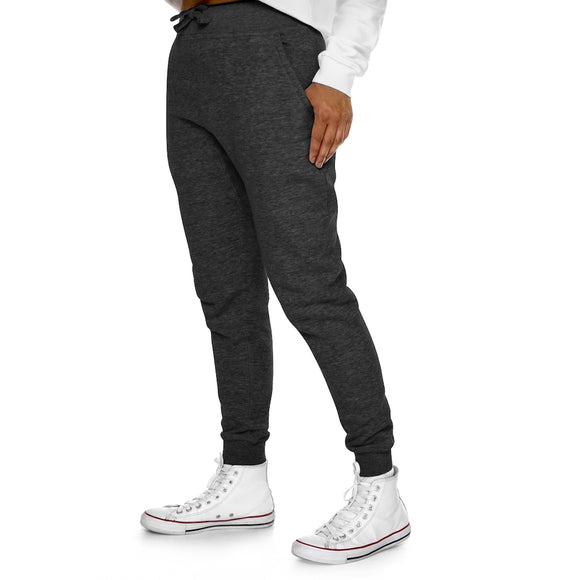 White Leaf Premium Fleece Joggers - Cannafitshop