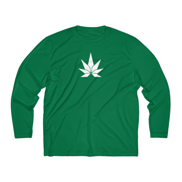 Big Leaf Men's Long Sleeve Moisture Absorbing Tee - Cannafitshop