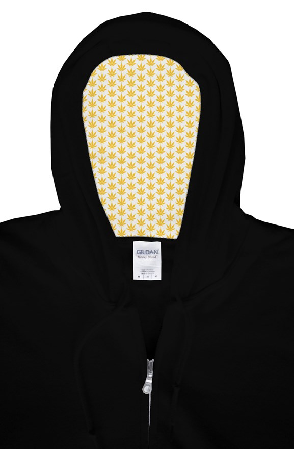 Yellow Leaf zip Hoodie - Cannafitshop