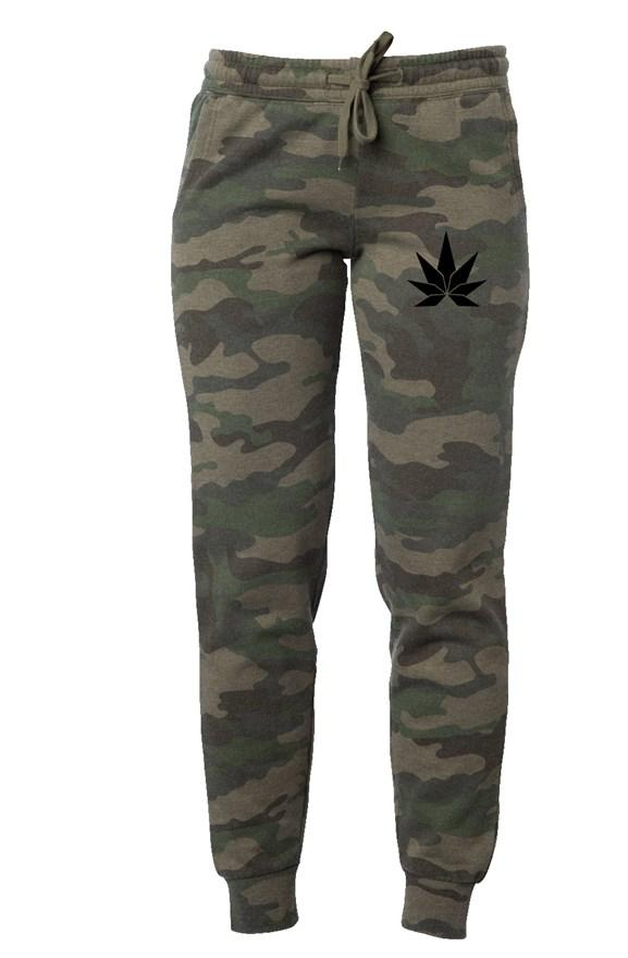 Womens Camo Wash Sweatpants - Cannafitshop
