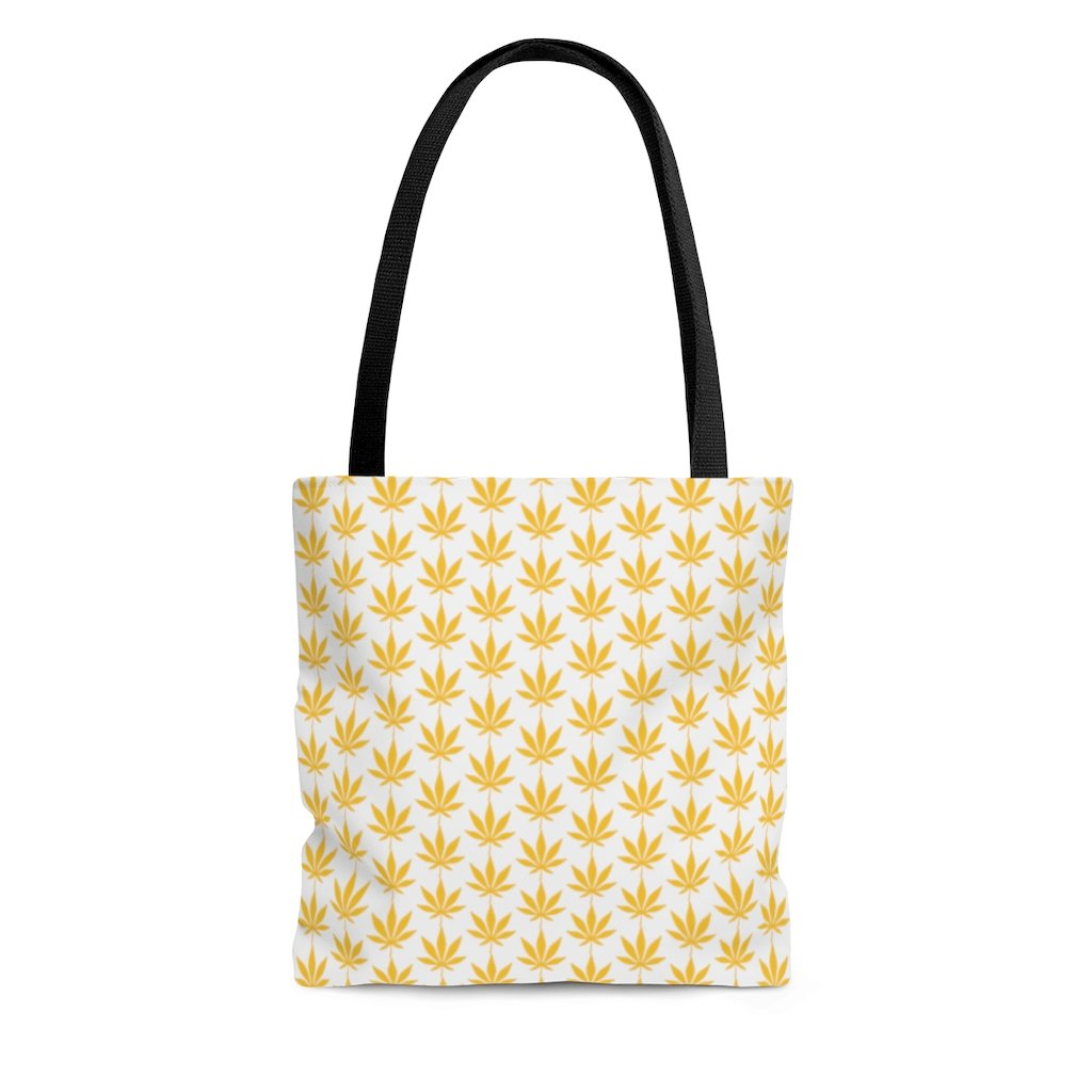 Yellow Leaf Tote Bag - Cannafitshop