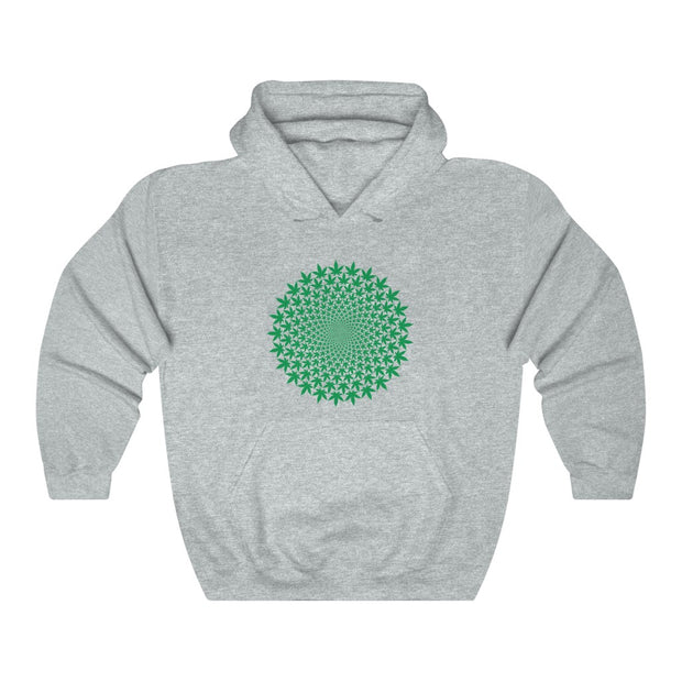 Green Leaves Unisex Pullover Hoodie - Cannafitshop