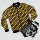 Yellow Men's AOP Bomber Jacket - Cannafitshop
