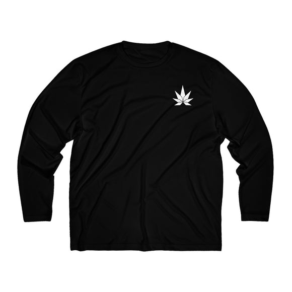 White Leaf Men's Long Sleeve Moisture Absorbing Tee - Cannafitshop
