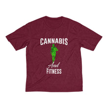 Load image into Gallery viewer, Fitness Men's Heather Dri-Fit Tee - Cannafitshop