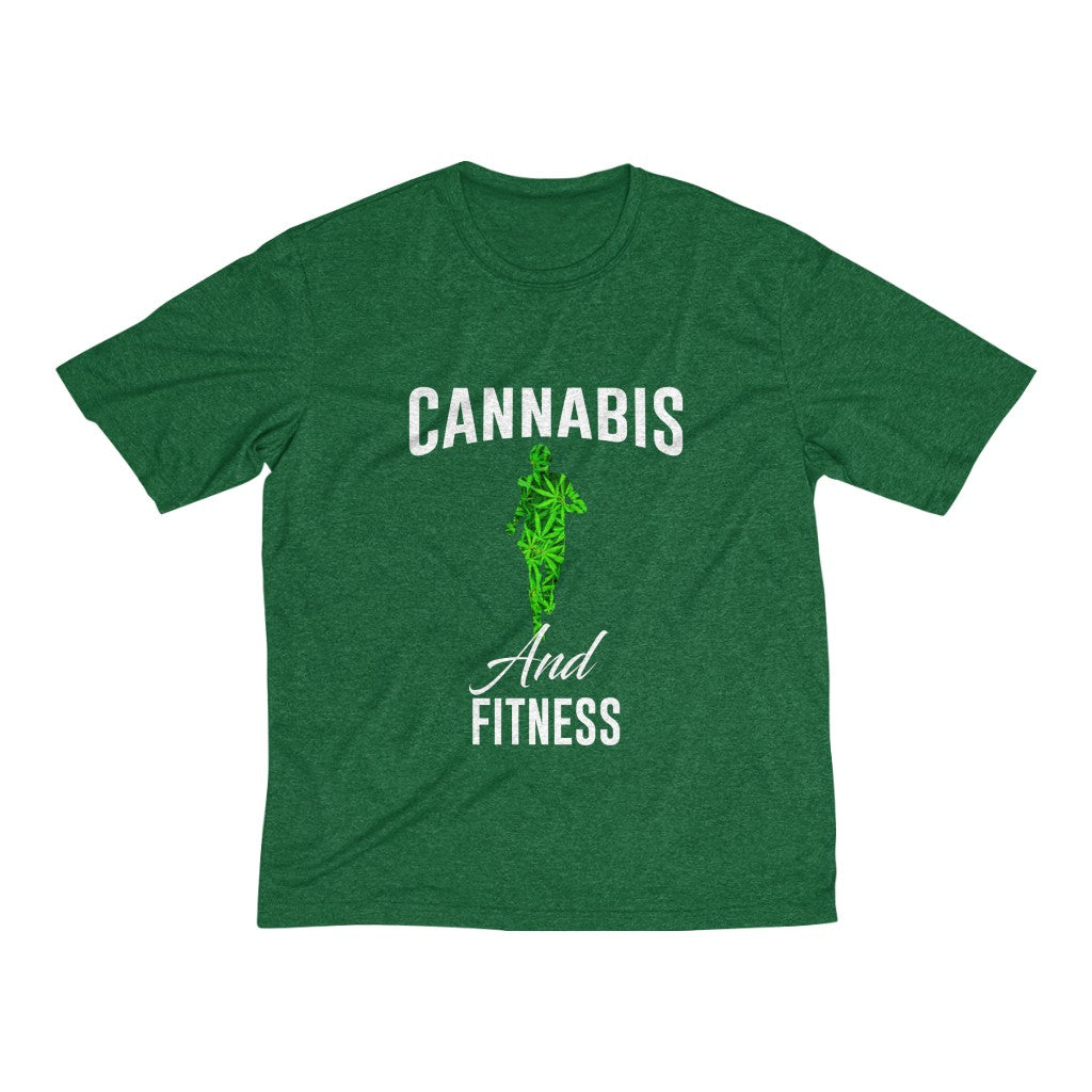 Fitness Men's Heather Dri-Fit Tee - Cannafitshop