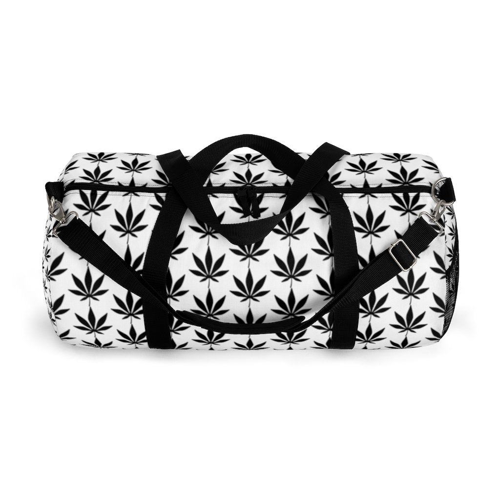 Black Leaf Duffel Bag - Cannafitshop